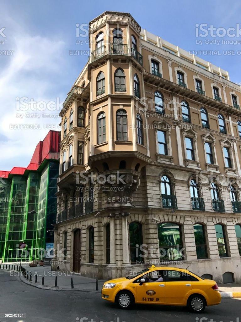 Old building in Beyoğlu street stock photo
