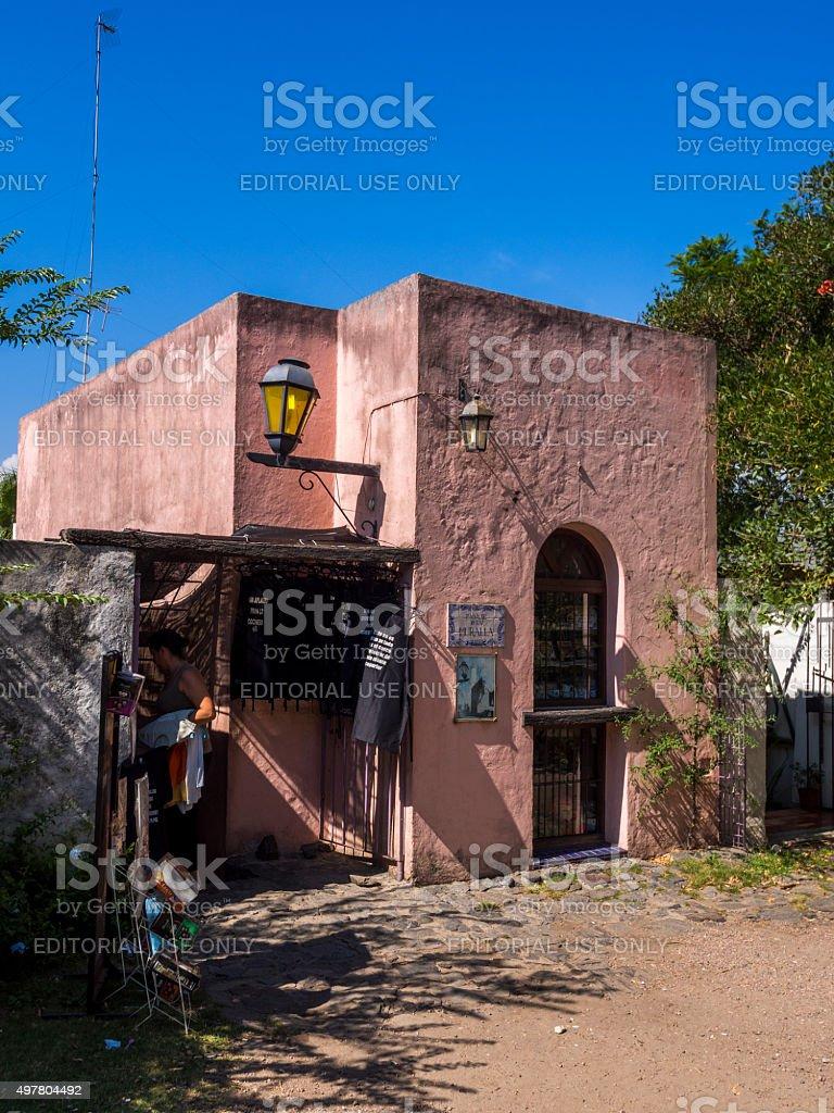 Old building in Colonia del Sacramento, Uruguay stock photo