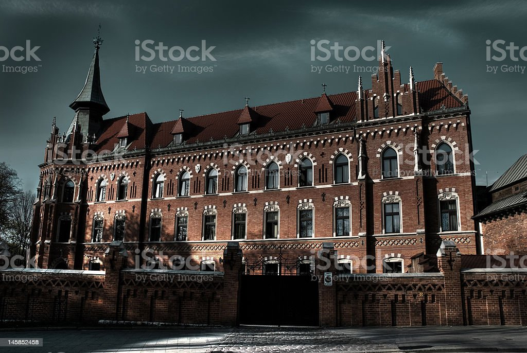Old building in Cracov stock photo