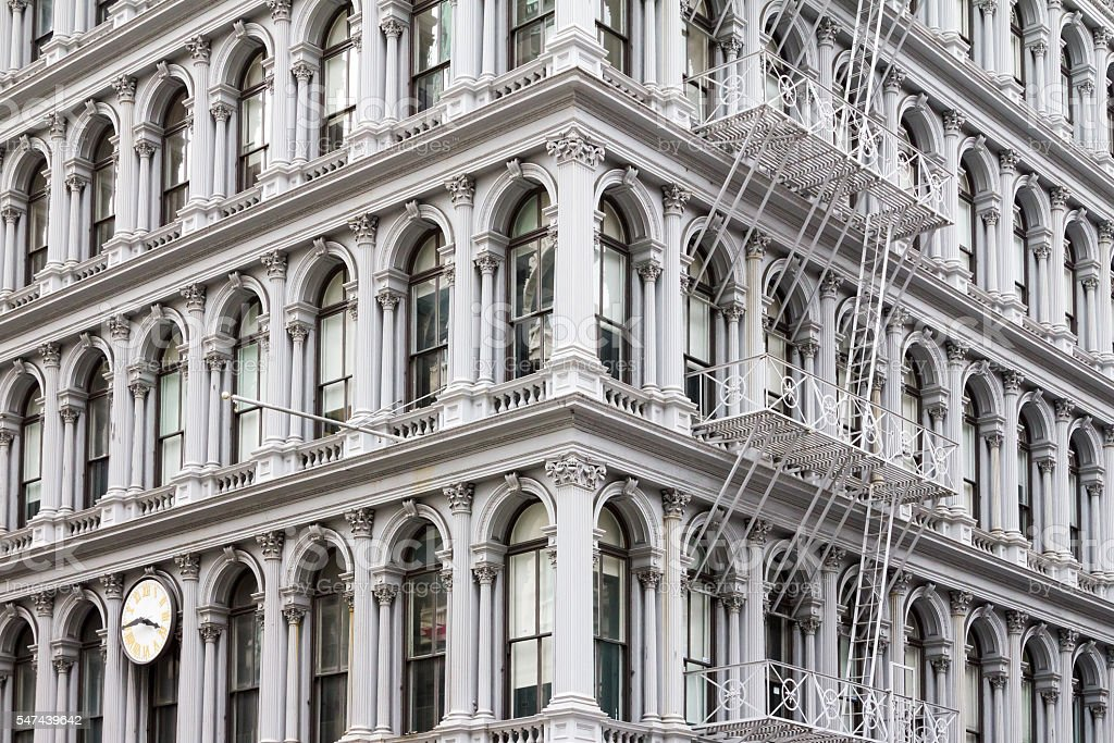 Old Building in Soho Manhattan, New York City stock photo