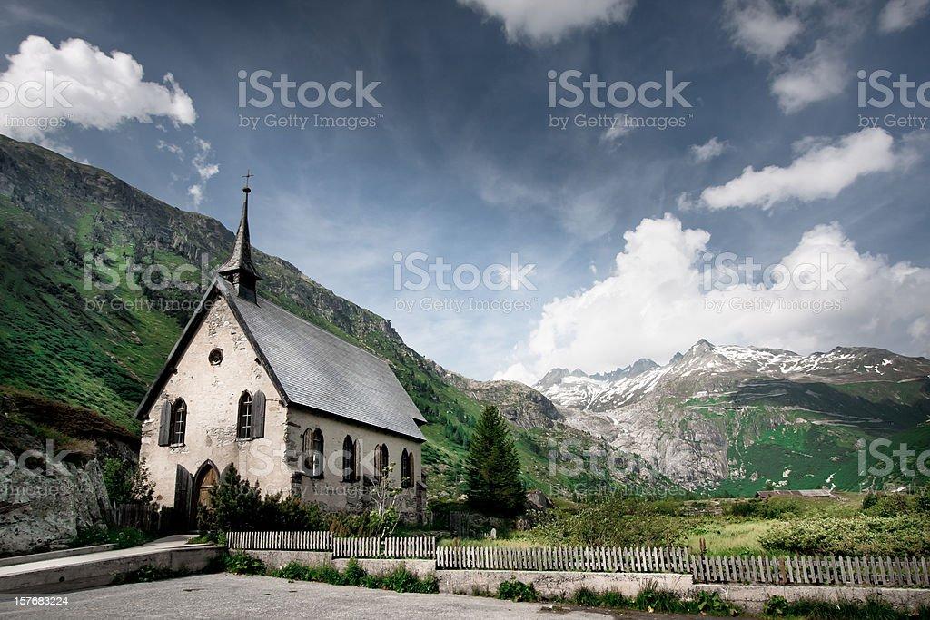 Old building in Switzerland stock photo
