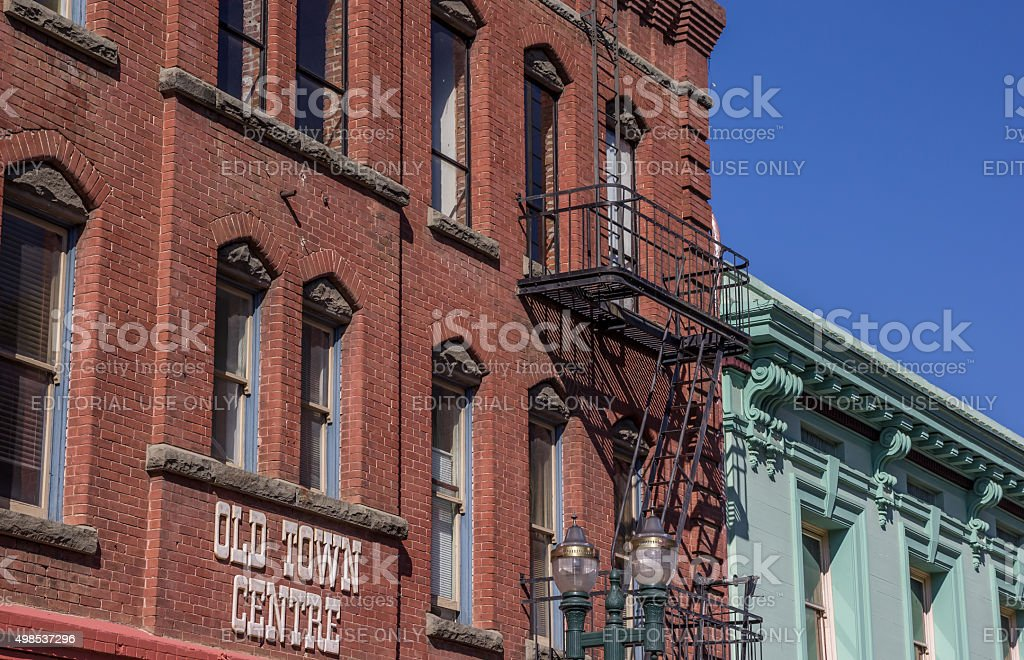 Old building in the historical center of Placerville stock photo