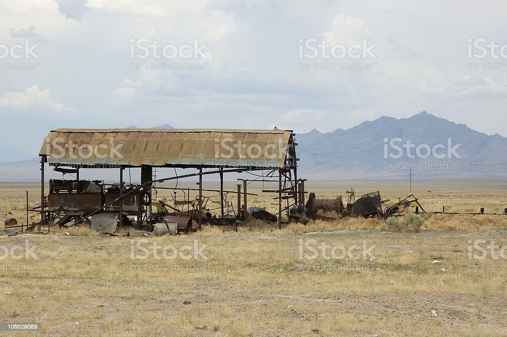 Old Building In the Nevada Desert royalty-free stock photo