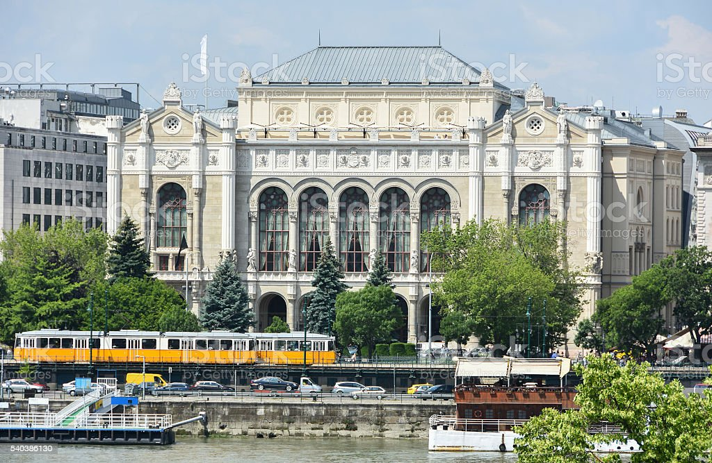 Old building of Budapest city, Hungary stock photo