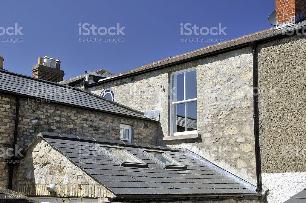 Alte Gebäude: Auf dem Dach Lizenzfreies stock-foto