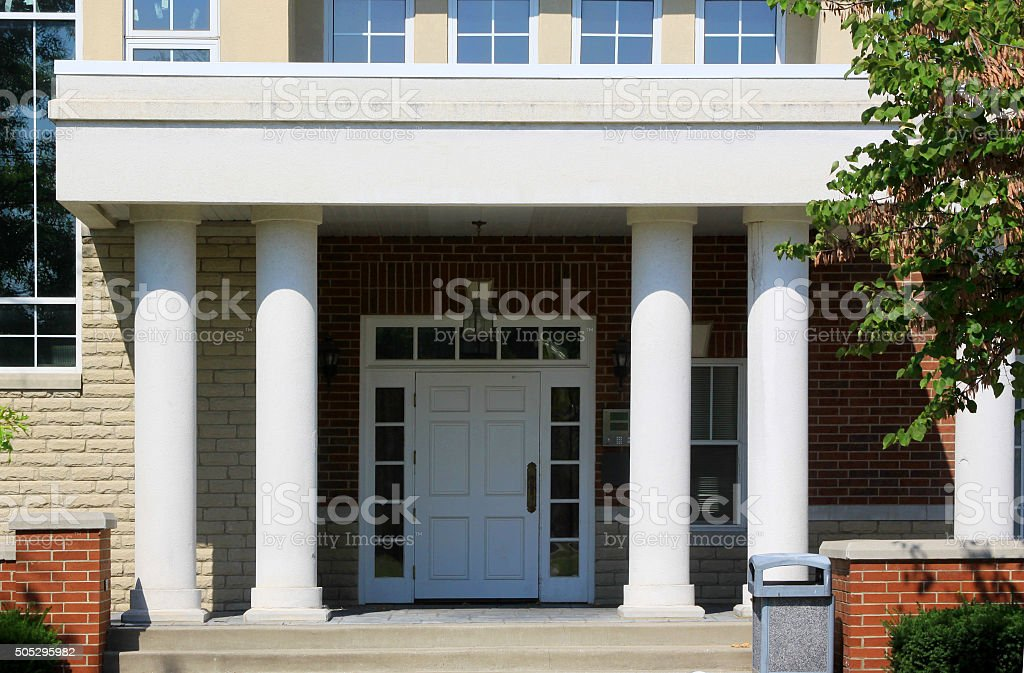 Old Building-Front Porch stock photo
