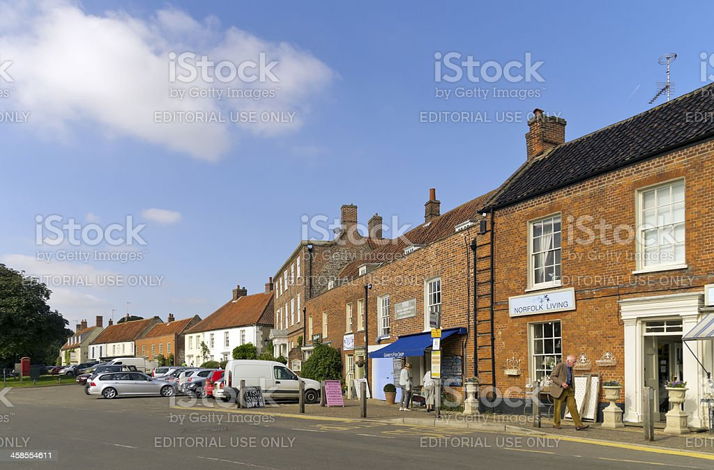 Old buildings in Burnham Market royalty-free stock photo
