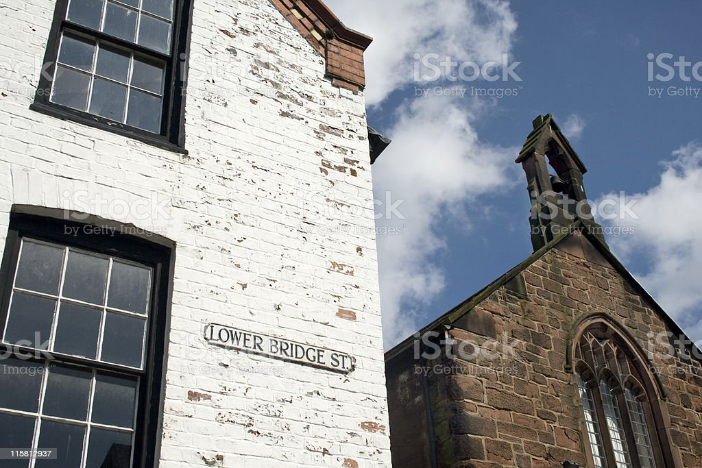 Old Buildings in Chester royalty-free stock photo