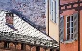 Old buildings in Como, Italy