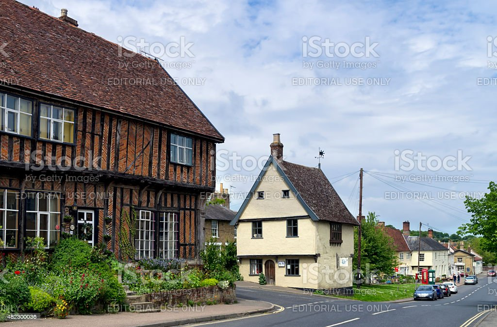 Old buildings in Debenham, Suffolk stock photo