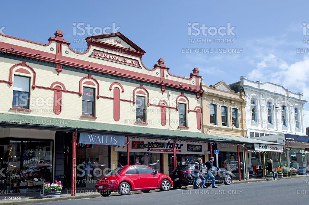 Old buildings in Devonport New Zealand stock photo