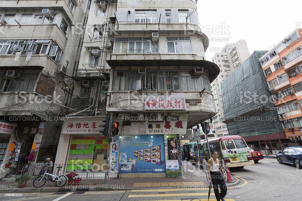 Old buildings in Hong Kong royalty-free stock photo