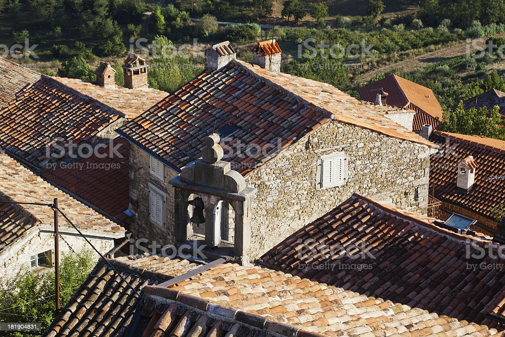 old buildings in Motovun, Croatia royalty-free stock photo