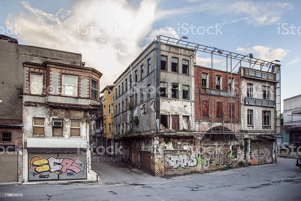 Old Buildings in Unkapani stock photo