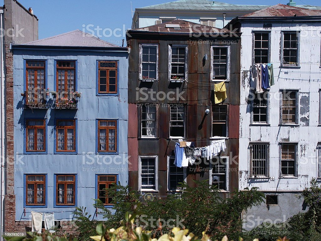 Old buildings in Valparaiso, Chile royalty-free stock photo