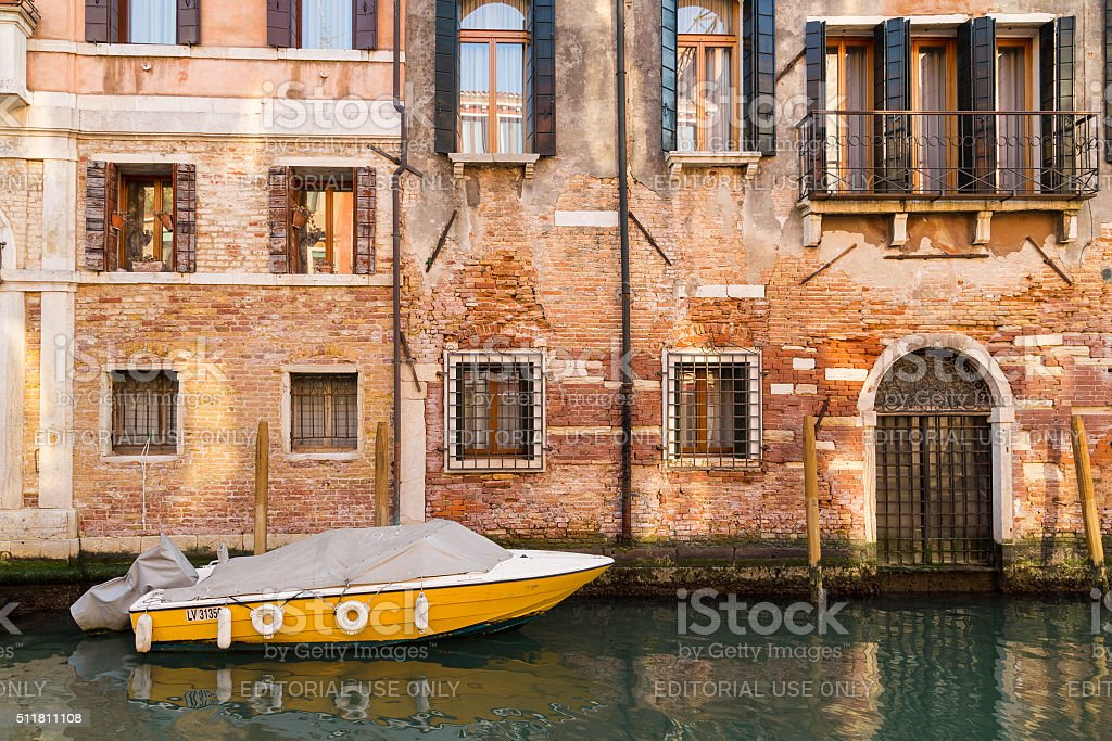 Old Buildings in Venice stock photo