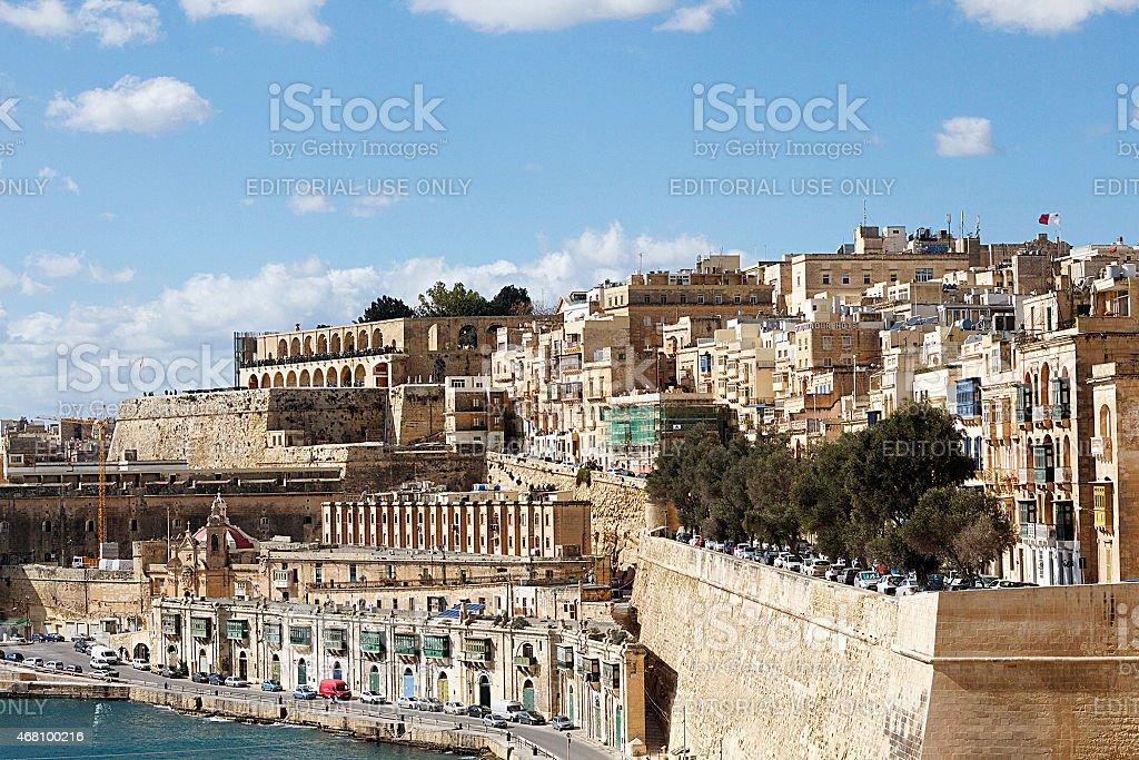 Vecchi edifici di La Valletta, Malta foto stock royalty-free