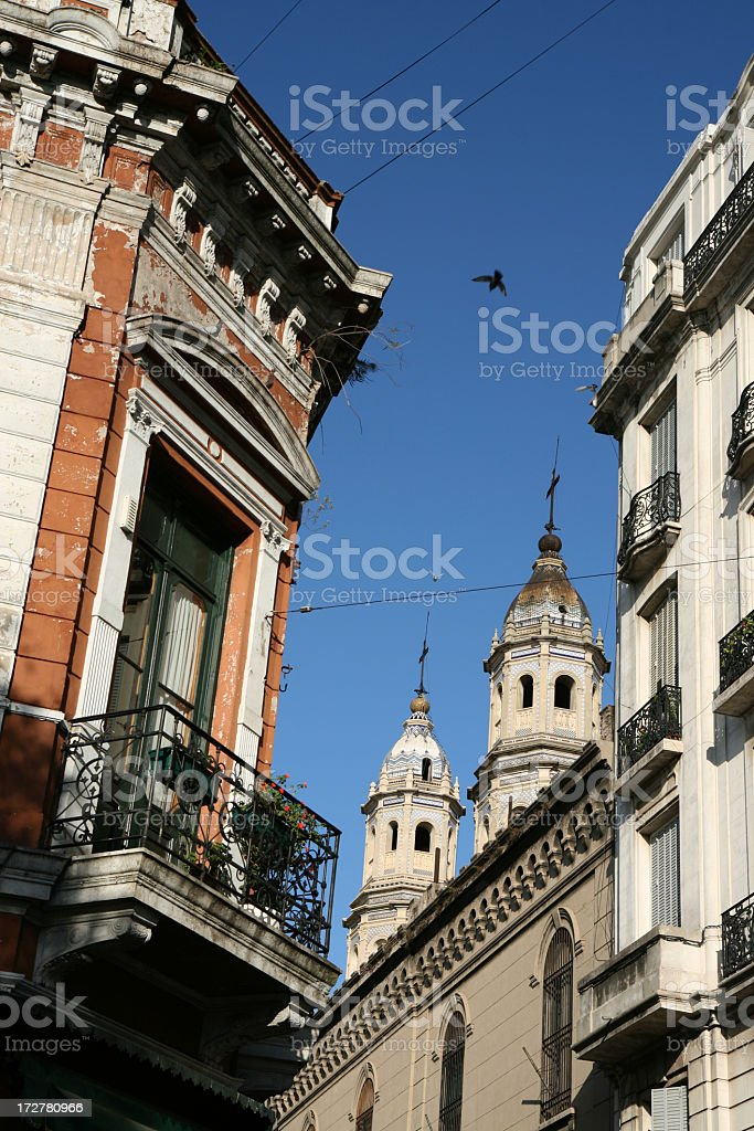 Old buildings, San Telmo, Buenos Aires, Argentina royalty-free stock photo