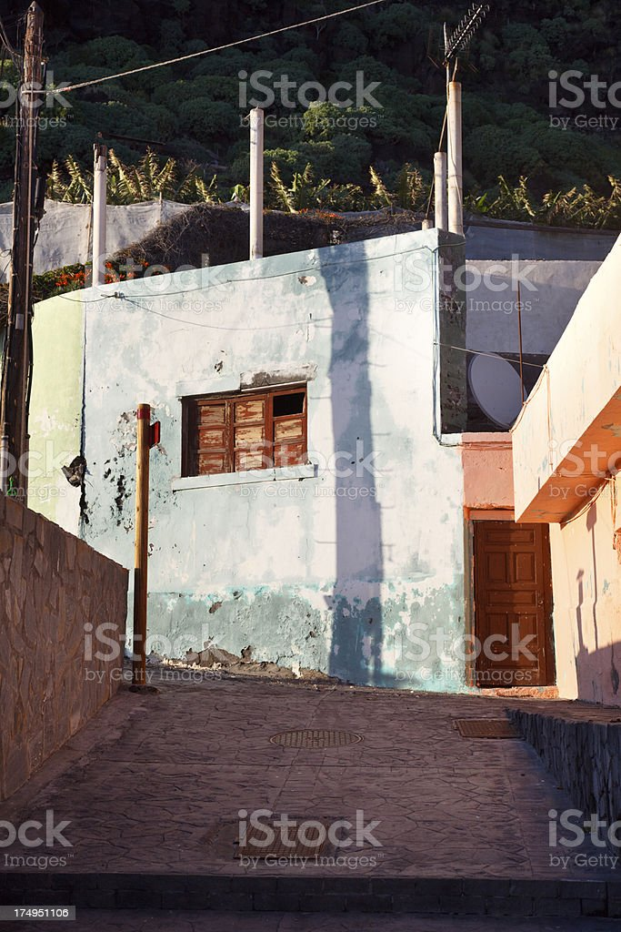 Old Buildings Tazacorte, La Palma stock photo