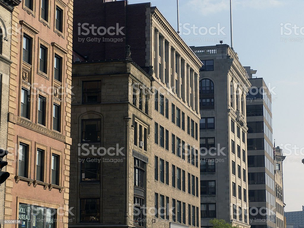 Old Buildings Tremont Street Boston royalty-free stock photo