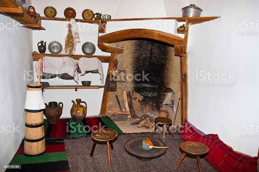 old Bulgarian room royalty-free stock photo