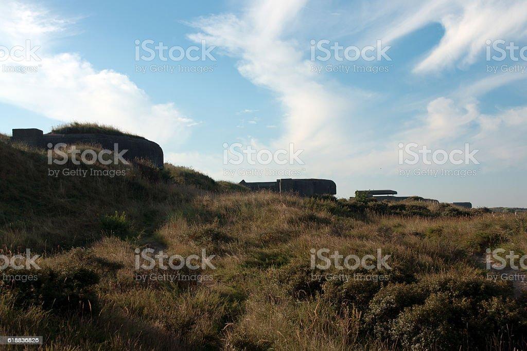 Old bunker stock photo