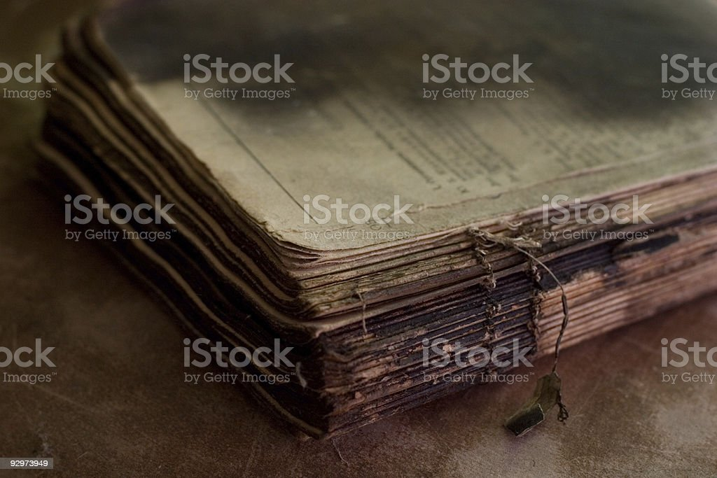 old burnt book royalty-free stock photo