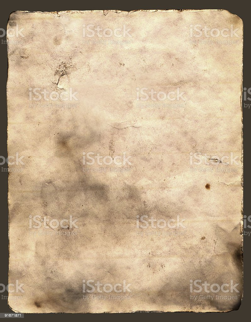 Old Burnt Paper stock photo