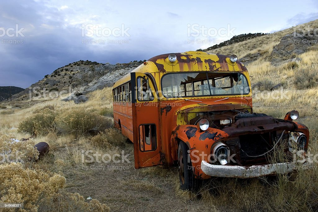 Old bus royalty-free stock photo