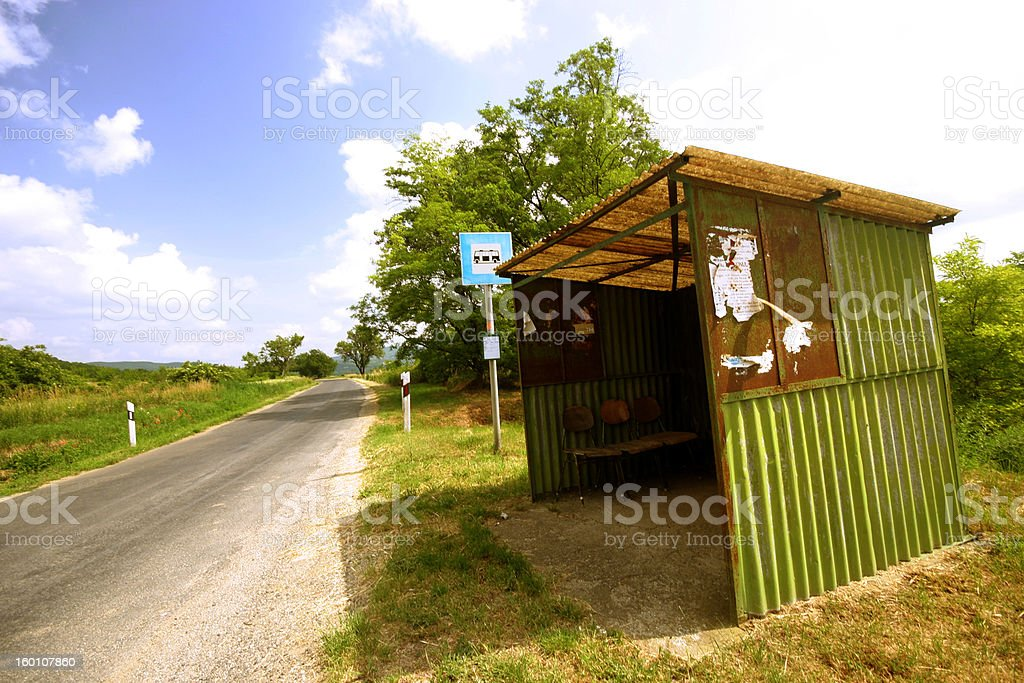 Old bus stop royalty-free stock photo
