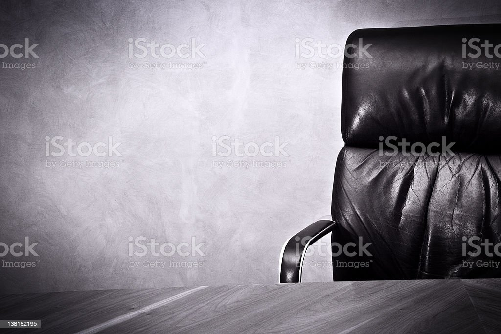 Old business great  Success- Leather chair and desk stock photo
