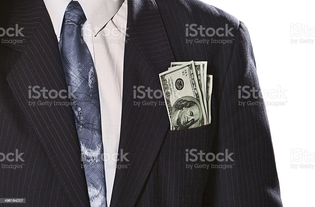Old business man stock photo