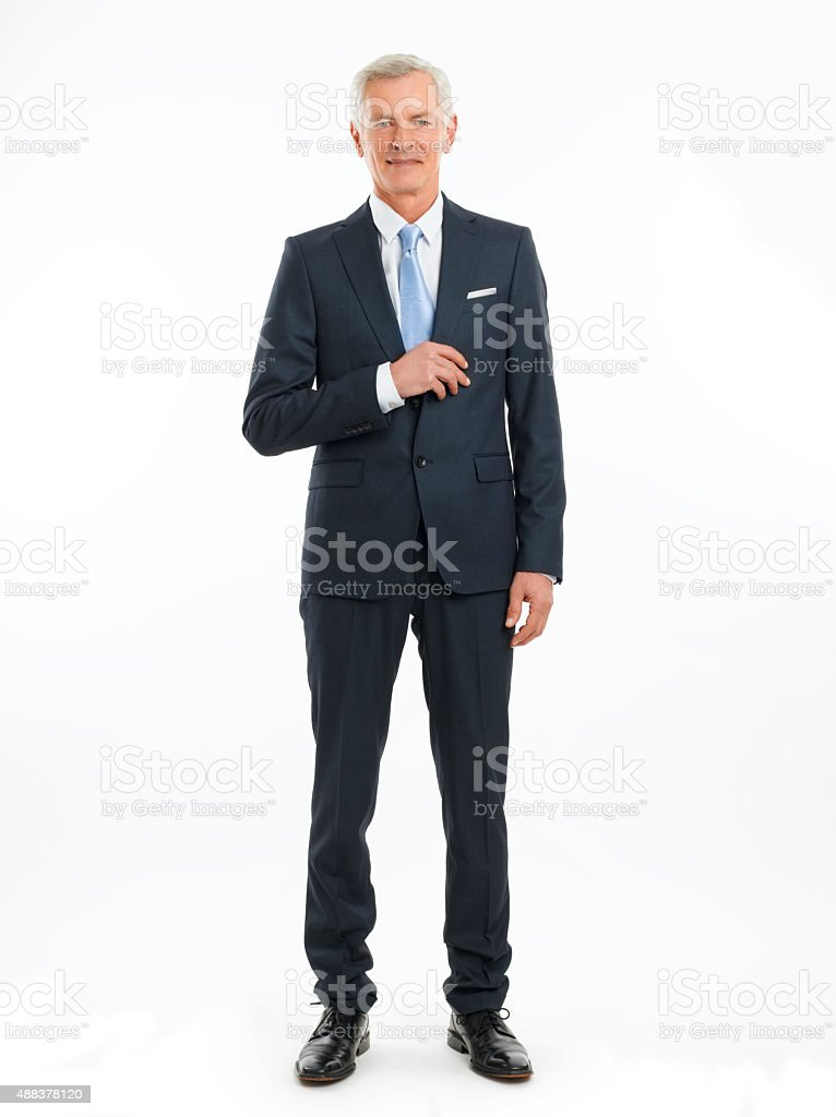 Old businessman portrait stock photo