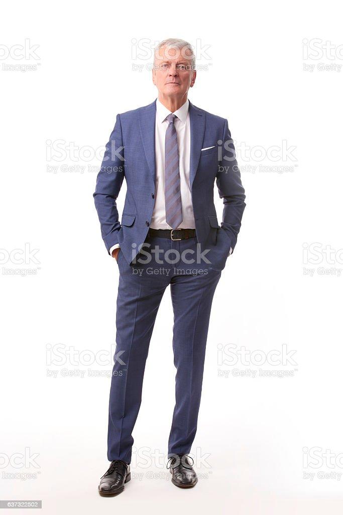 Old businessman portrait stock photo