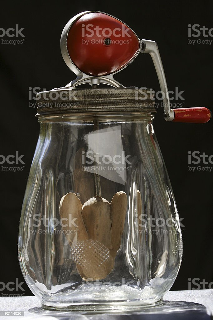 Old Butter Churn stock photo