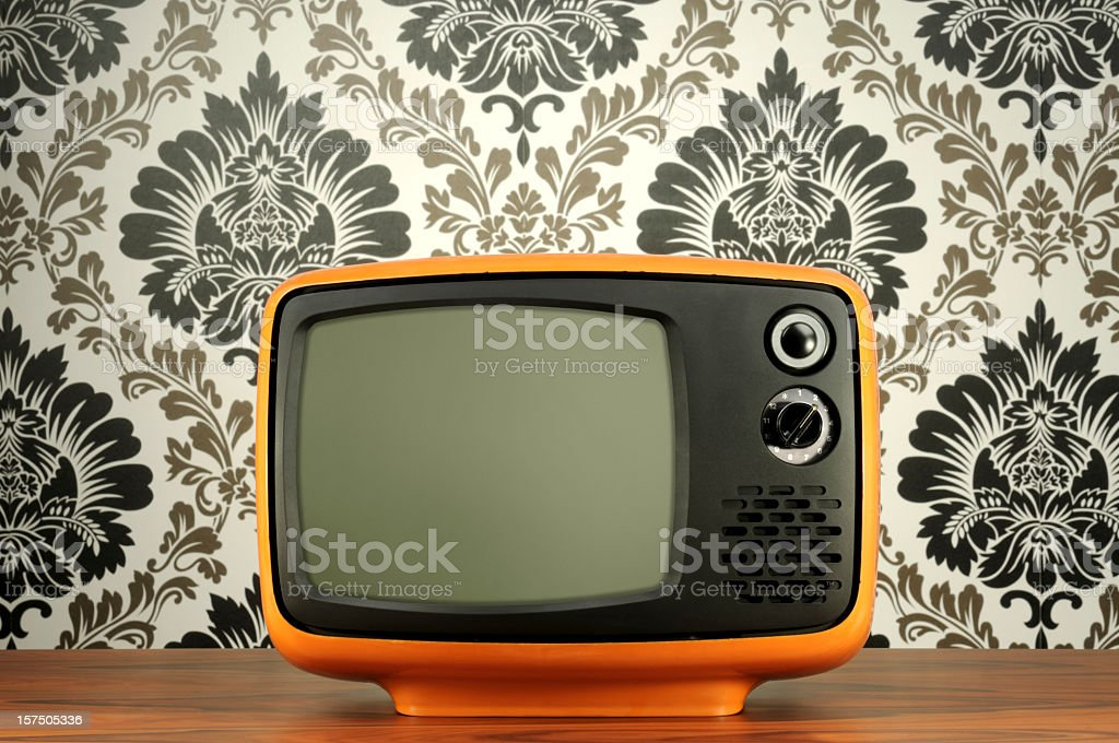 Old BW Tv royalty-free stock photo