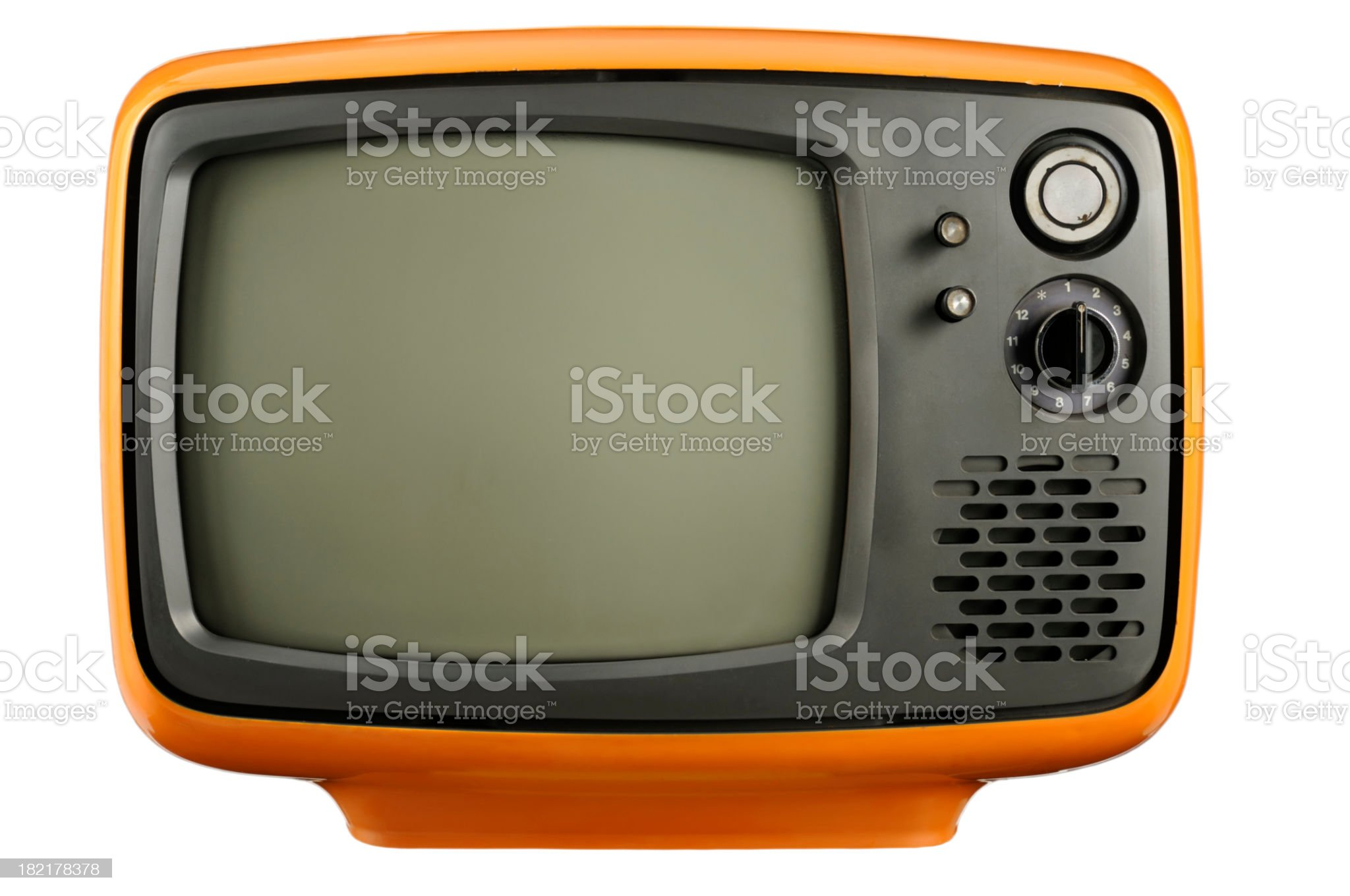 Old BW Tv (clipping path) royalty-free stock photo