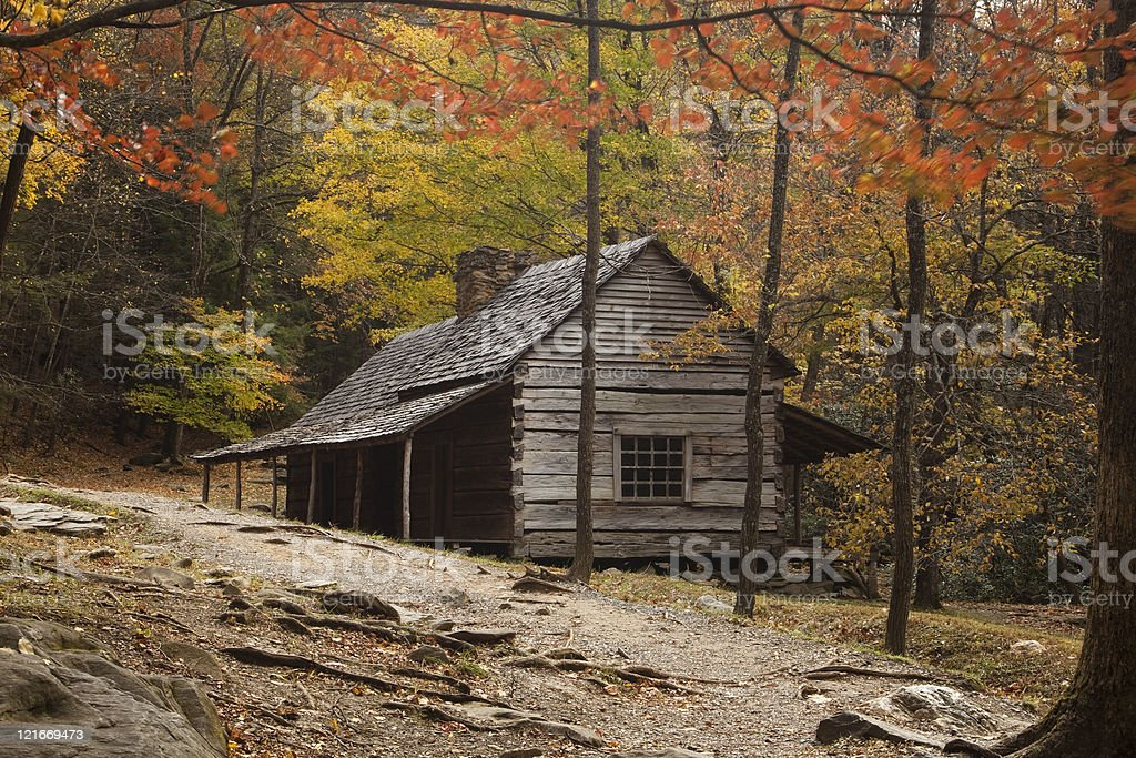 Old Cabin in the Smokies stock photo