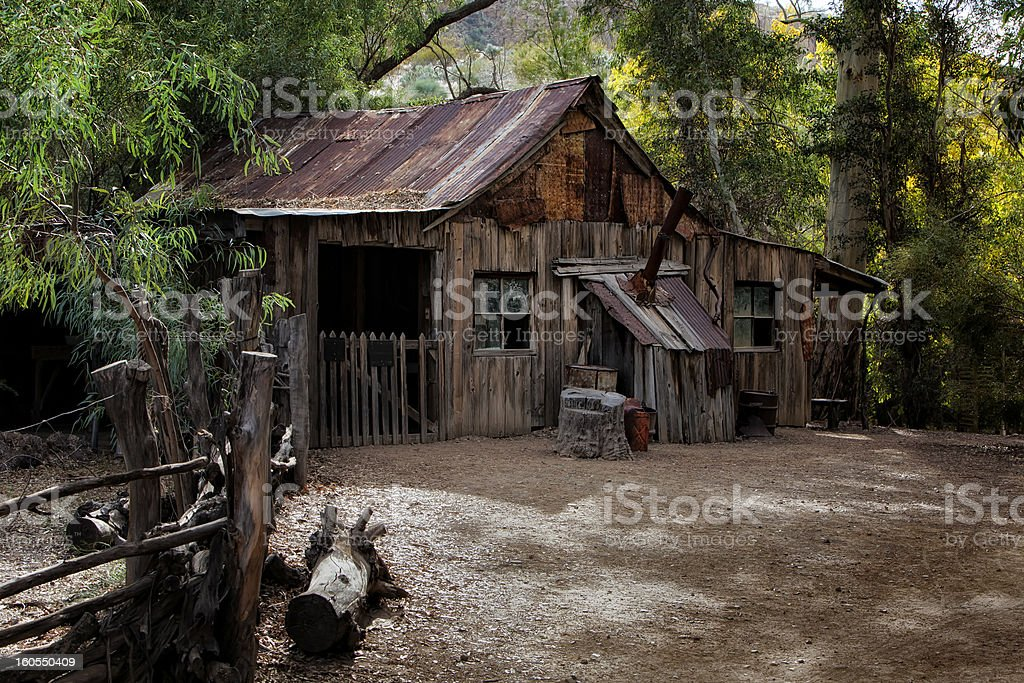 Old Cabin in the Woods royalty-free stock photo