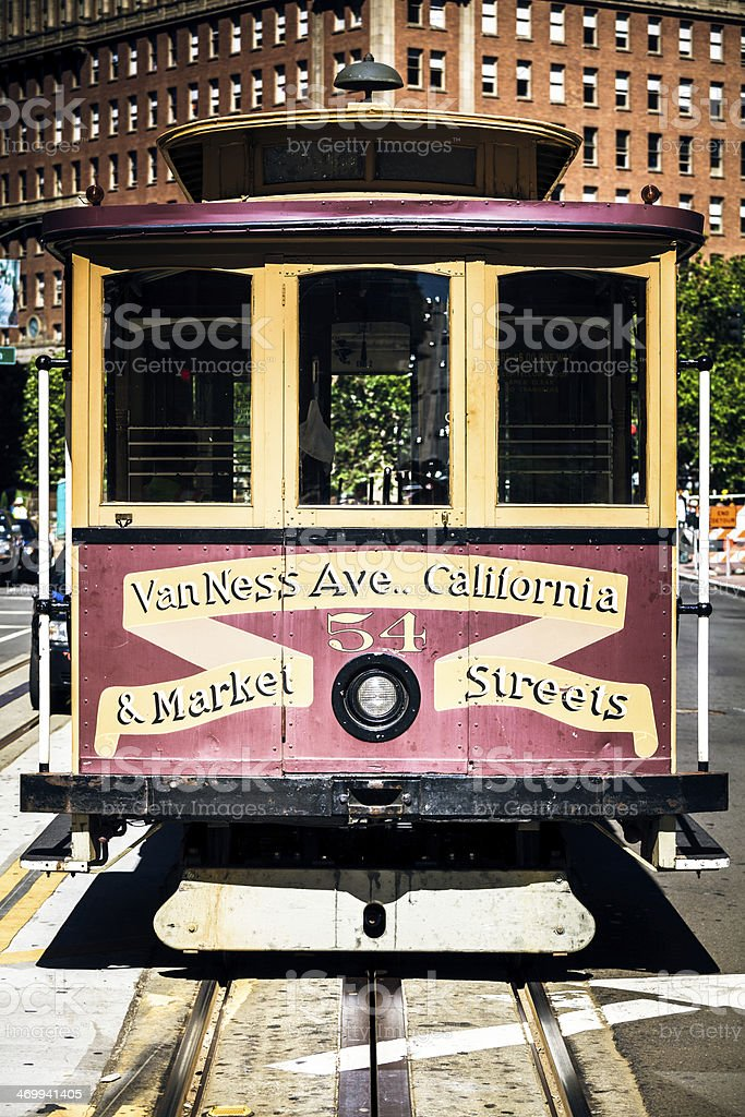 Old Cable Car on the streets of San Francisco royalty-free stock photo