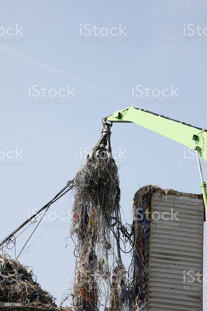 Old cable stock photo