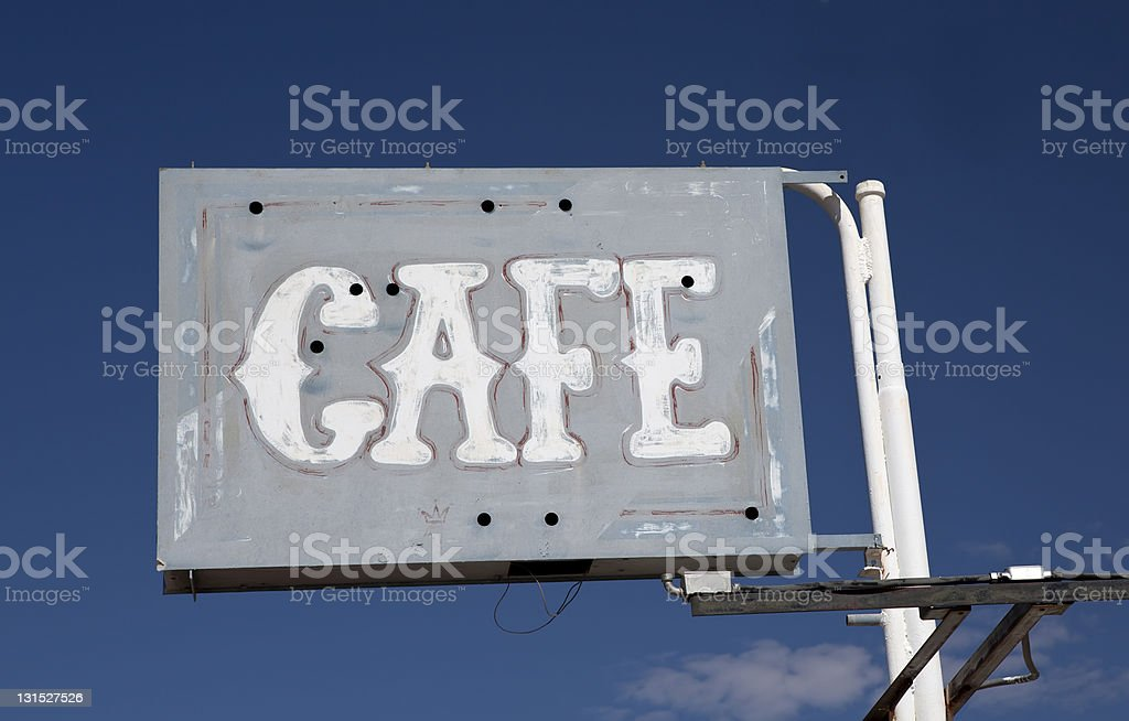 Old Cafe Sign royalty-free stock photo