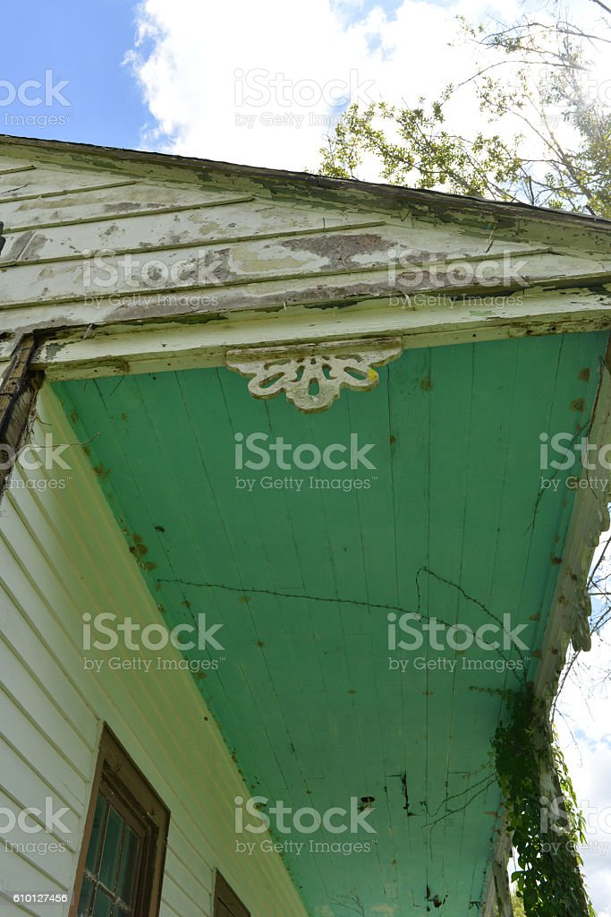 Old Cajun Home in Louisana stock photo