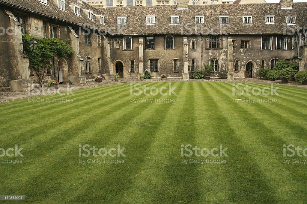 Old Cambridge University College. stock photo