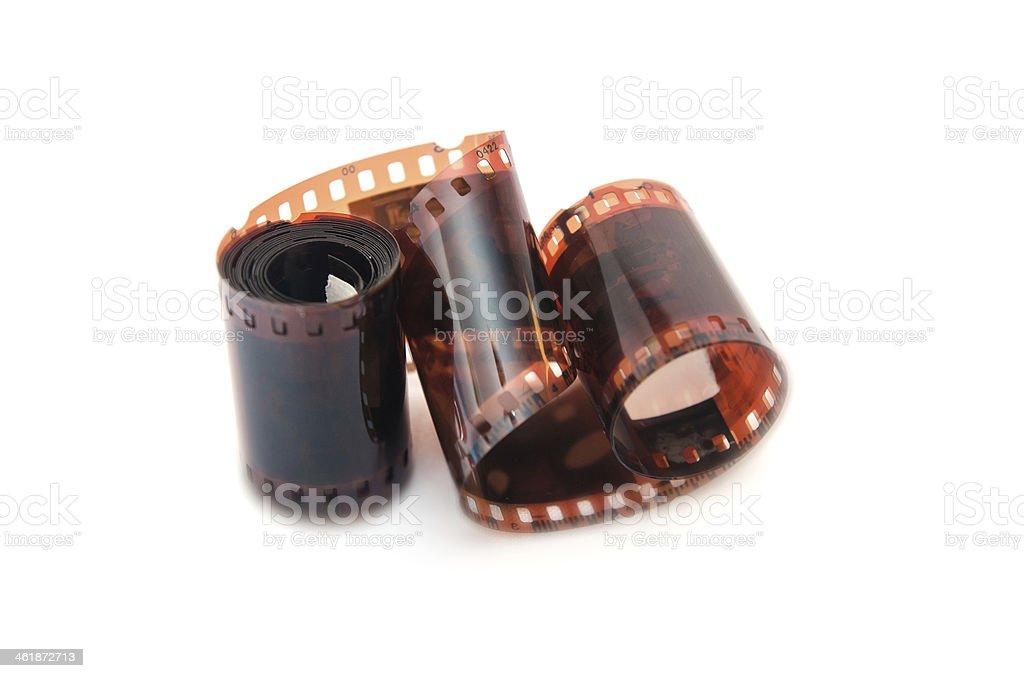 old camera film strip stock photo