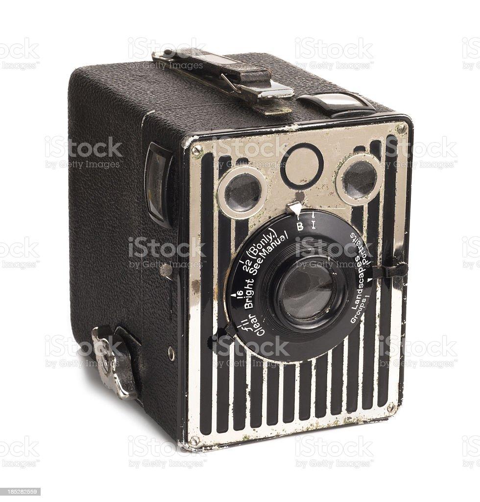 Old Camera Kodak box brownie royalty-free stock photo