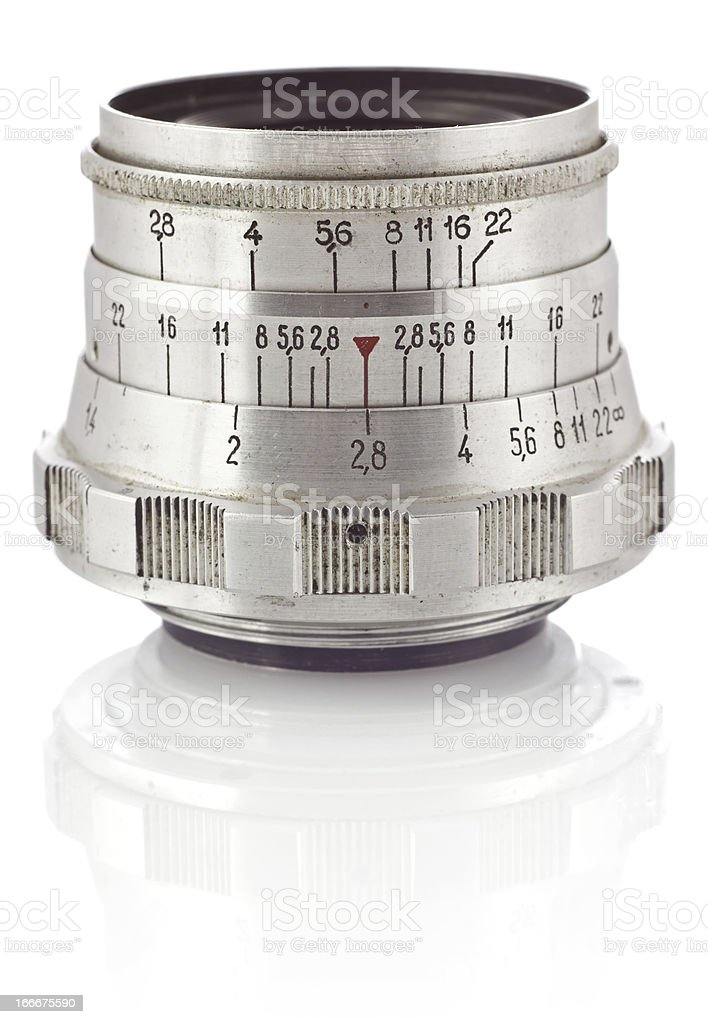 old Camera Lens royalty-free stock photo