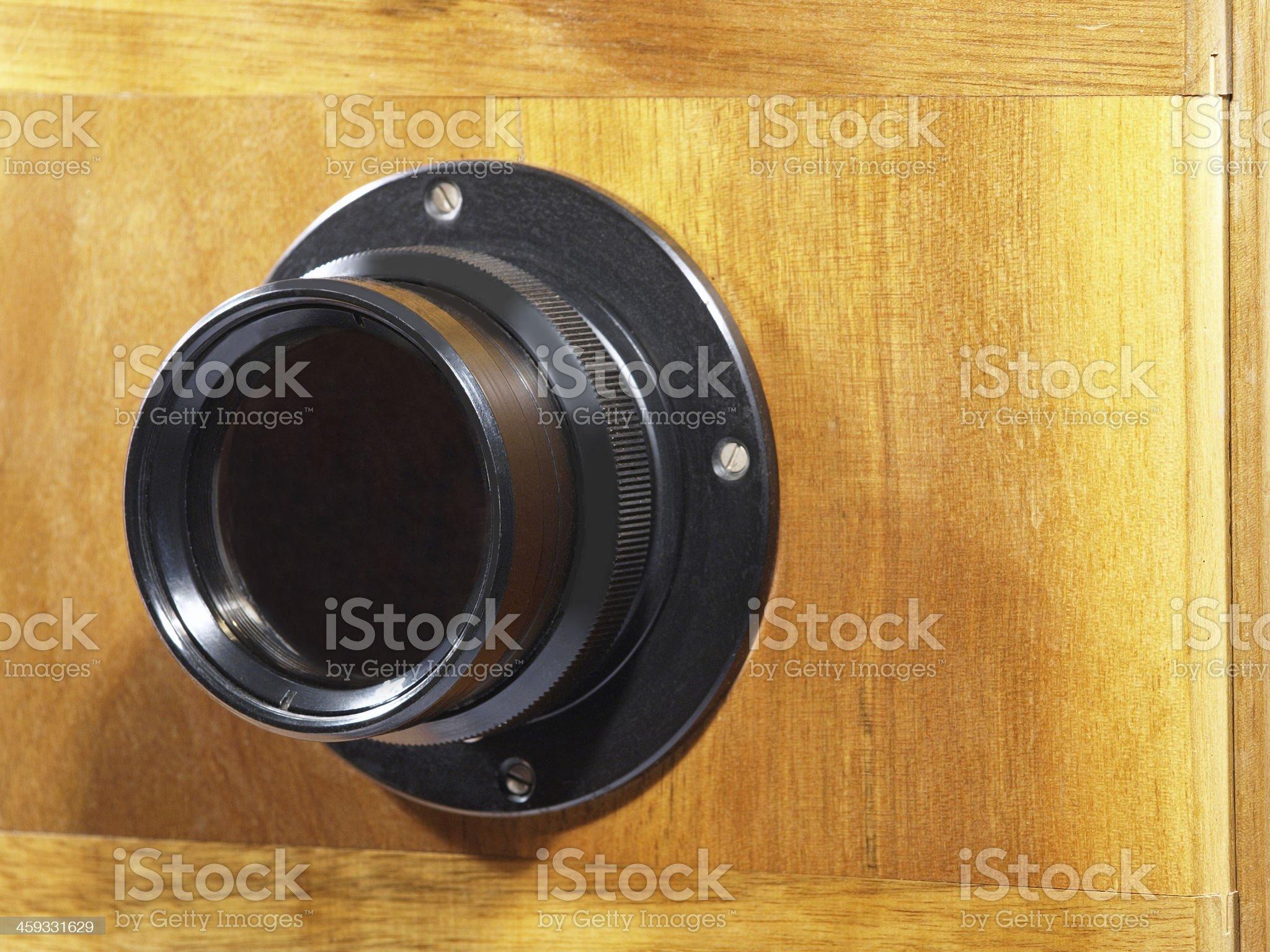 Old camera lens. royalty-free stock photo