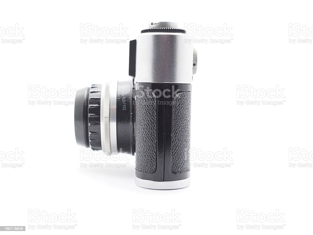 old camera on a white background royalty-free stock photo