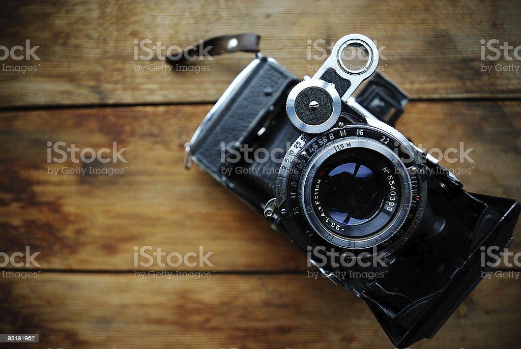 Old camera. stock photo